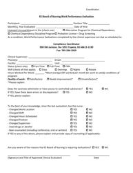 """Ks Board of Nursing Work Performance Evaluation"" - Kansas"