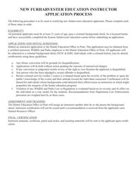 """""""Furharvester Education Instructor Application"""" - Kansas"""