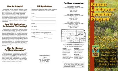 """Landowner Incentive Program (Lip) Application"" - Kansas"