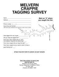 """Melvern Crappie Tagging Survey"" - Kansas"