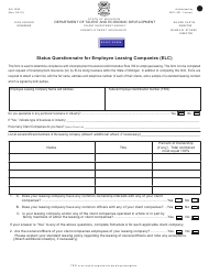 """Form UIA1045 """"Status Questionnaire for Employee Leasing Companies (Elc)"""" - Michigan"""