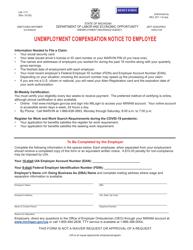"Form UIA1711 ""Unemployment Compensation Notice to Employee"" - Michigan"