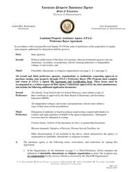 """Preference Buyer Agreement"" - Louisiana"