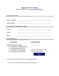 """Request for Lpaa Training"" - Louisiana"