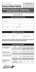 "Form DMV-14-TR ""Application for Boat Renewal, Duplicate Decal, Duplicate Registration, Change of Address"" - West Virginia"