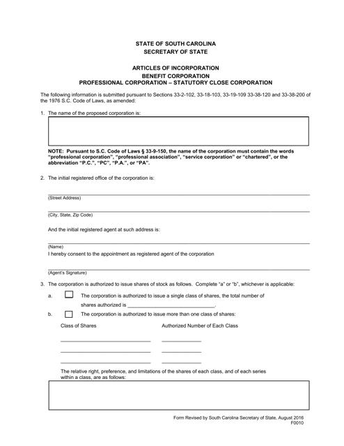 Form 0010  Printable Pdf