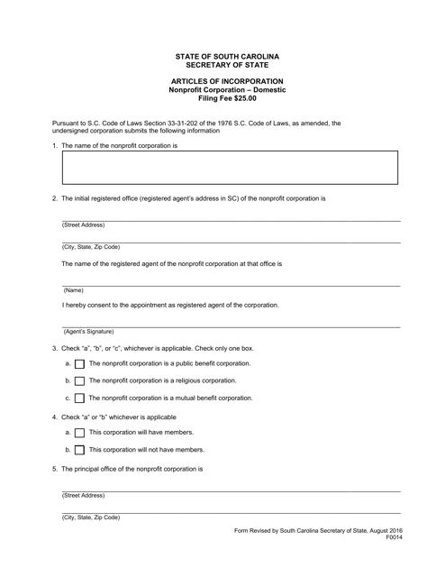 Form 0014  Printable Pdf