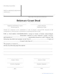 """Grant Deed Form"" - Delaware"