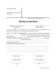 """""""Grant Deed Form"""" - Florida"""