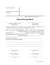 """""""Grant Deed Form"""" - Hawaii"""