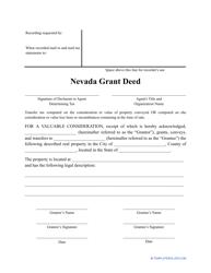 """Grant Deed Form"" - Nevada"