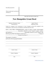"""Grant Deed Form"" - New Hampshire"