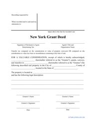 """Grant Deed Form"" - New York"
