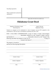 """Grant Deed Form"" - Oklahoma"