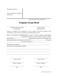 """Grant Deed Form"" - Virginia"