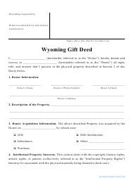 """Gift Deed Form"" - Wyoming"