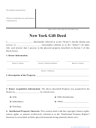 """""""Gift Deed Form"""" - New York"""