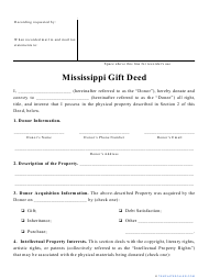 """""""Gift Deed Form"""" - Mississippi"""