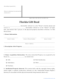 """Gift Deed Form"" - Florida"