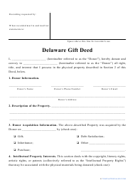 """""""Gift Deed Form"""" - Delaware"""