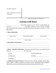 """""""Gift Deed Form"""" - Arizona"""