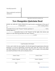 """Quitclaim Deed Form"" - New Hampshire"