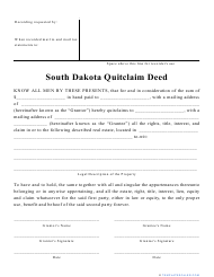 """Quitclaim Deed Form"" - South Dakota"