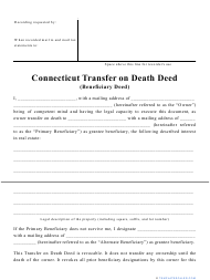 """Transfer on Death Deed Form"" - Connecticut"