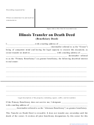 """Transfer on Death Deed Form"" - Illinois"