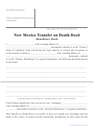 """Transfer on Death Deed Form"" - New Mexico"