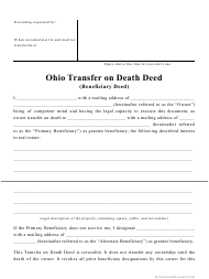 """Transfer on Death Deed Form"" - Ohio"