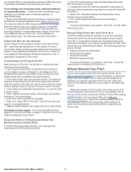 """Instructions for IRS Form 941 """"Employer's Quarterly Federal Tax Return"""", Page 7"""