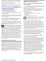 """Instructions for IRS Form 941 """"Employer's Quarterly Federal Tax Return"""", Page 9"""