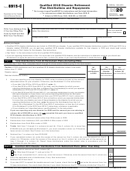 "IRS Form 8915-C ""Qualified 2018 Disaster Retirement Plan Distributions and Repayments"", 2020"