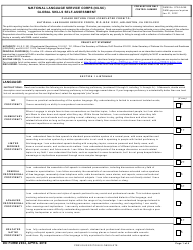 "DD Form 2934 ""National Language Service Corps (Nlsc) Global Skills Self-assessment"""