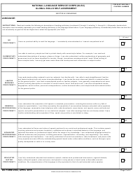 """DD Form 2934 """"National Language Service Corps (Nlsc) Global Skills Self-assessment"""", Page 2"""