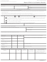 """ATF Form 5400.5 """"Report of Theft or Loss-Explosive Materials"""""""