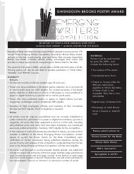 """Form LD A96 """"Illinois Emerging Writers Competition - Entry Form"""" - Illinois"""