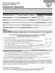 "Form Per D81 ""Employment Application"" - Illinois"
