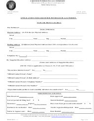 "Form DPSLP8012 ""Application for Liquefied Petroleum Gas Permit"" - Louisiana"
