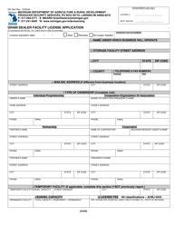 "Form GD-304 ""Grain Dealer Facility License Application"" - Michigan"