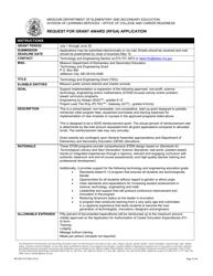 "Form MO500-3175 ""Request for Grant Award (Rfga) Application"" - Missouri"