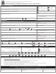 """Form MO580-2044 """"Application for License to Operate a Child Care Facility"""" - Missouri"""
