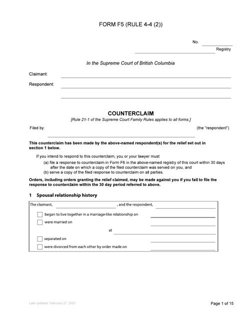Form F5 Printable Pdf