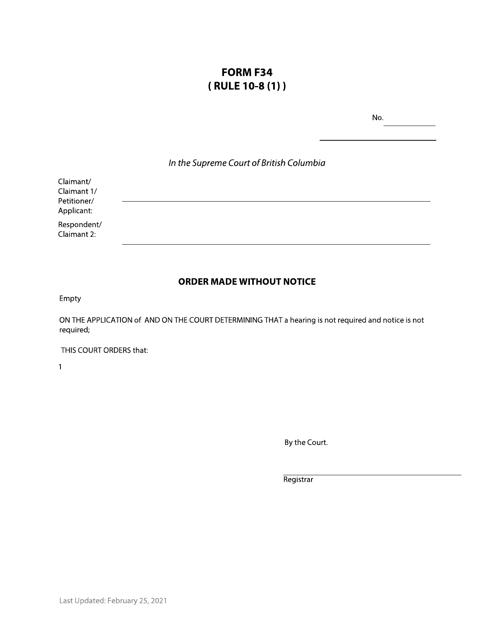 Form F34 Printable Pdf