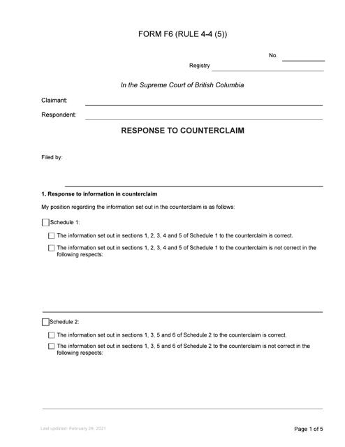 Form F6 Printable Pdf