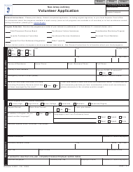 "Form 10293 ""Volunteer Application"" - New Jersey"