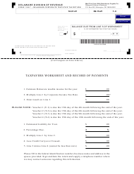 "Form 1100-T-3 ""Delaware Corporate Tentative Tax Return Payment Voucher"" - Delaware, 2021"