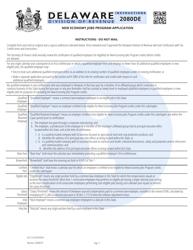 "Form 2080DE ""New Economy Jobs Program Application"" - Delaware, Page 3"