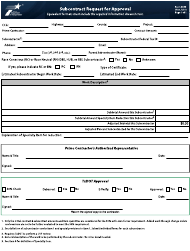 """Form 2802 """"Subcontract Request for Approval"""" - Texas"""